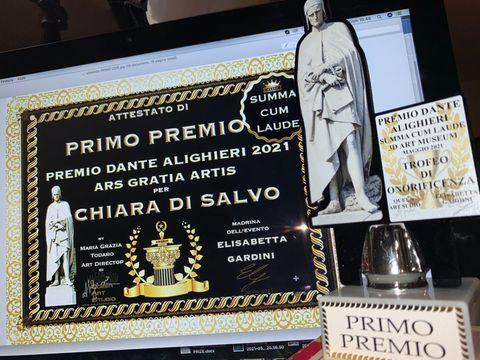 PRIMO PREMIO DANTE ALIGHIERI 2021 - ARS GRATIA ARTIS CUM SUMMA LAUDE - QUEEN ART STUDIO GALLERY